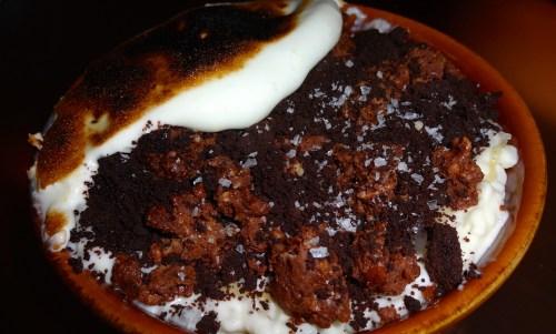 Cinnamon Vanilla Arroz con Leche with Dark Chocolate, Caramel, and Toasted Meringue (8/10).