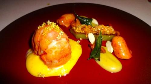 Garden Menu: Maine Lobster with Celtuce, Almond, and Lemon Verbena (8/10).