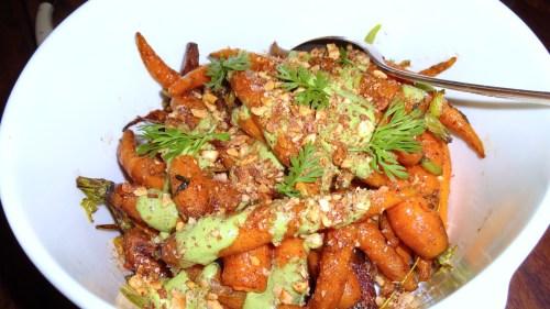 Roasted Carrots with Sumac and Yogurt (8/10).