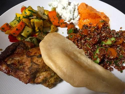 Mediterranean Theme Staff Meal.
