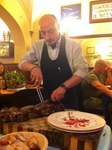 Carving the T-bone Steak.