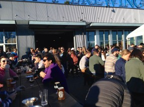 So Many People in the Beer Garden.