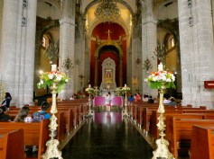 Inside the Old Basilica.