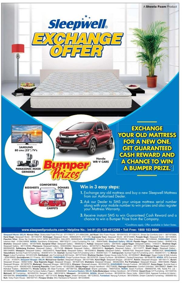 Sleepwell Exchange Offer