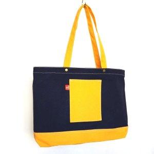 寶藍+橙帆布 三袋 日系袋