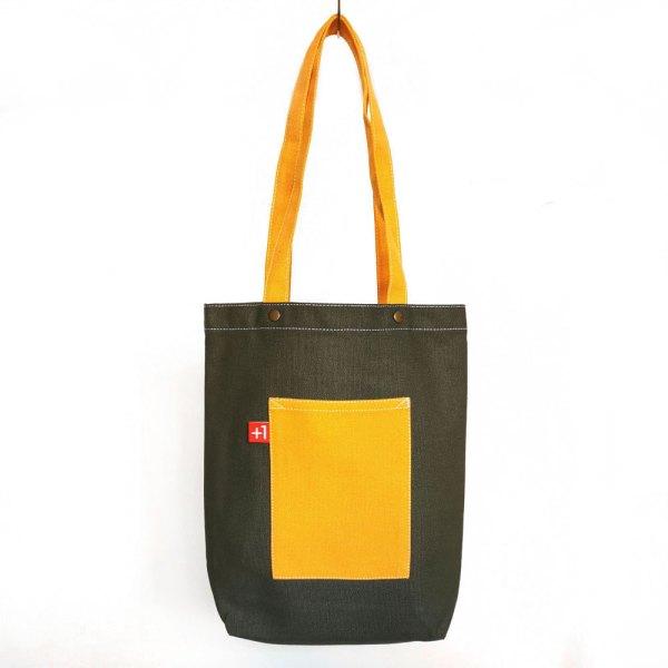軍綠+橙帆布 日系袋