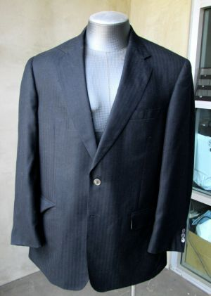 Carroll & Co. Suit Blazer Jacket Sport Coat Size 43R  Black Cashmere Fully Lined