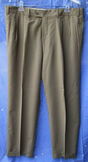 Carroll & Co Suit Pants Slacks Trousers Dress Pants Brown #73  Wool Fully Lined