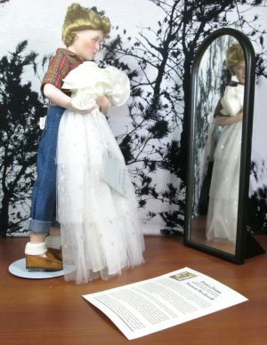 "Danbury Mint Norman Rockwell Prom Dress 16"" Doll with Dress & Mirror"