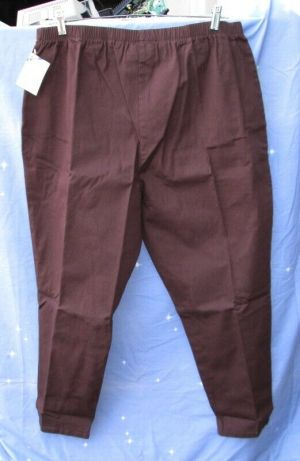 NWT Roamans Woman's Petite Size Pants Trousers Soft Knitted Brown Size 2X 26WP