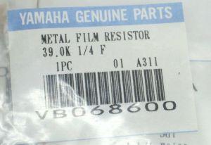 Yamaha VB068600 Part Metal Film Resistor x10 for PW4000 Power Supply Q2031B EQ