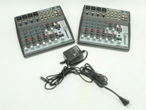 2x Behringer Xenyx 1202FX Mixers with Effects & 1x Power Supply Bundle