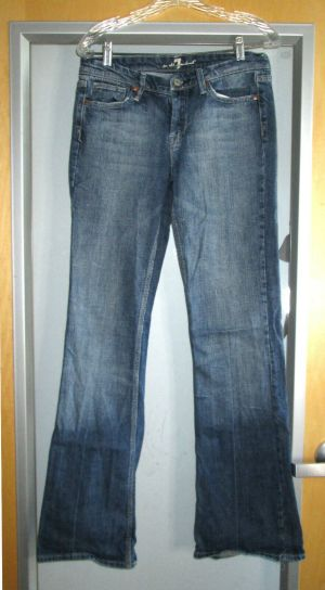 7 For All Mankind Jeans Womens Blue Denim Bootcut Jeans Pants Size 29