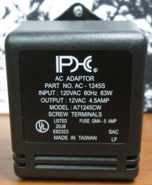 AC Adapter AC-1245S Power Supply Adaptor A71245 CW Screw Terminals