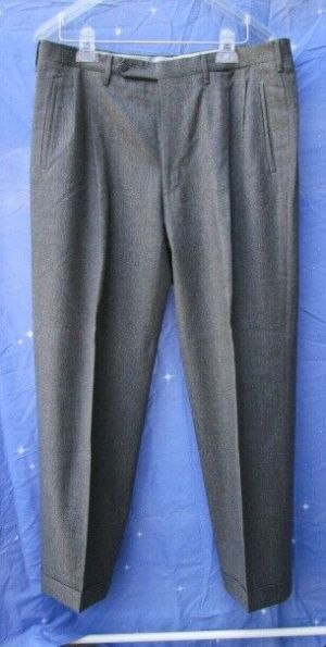 Carroll & Co. Suit Pants Slacks Trousers Dress Pants Gray #39 Wool Fully Lined