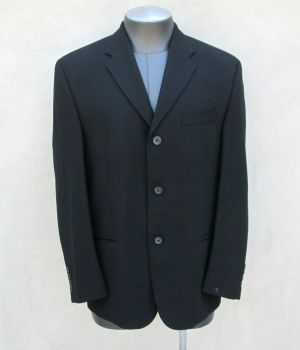 DKNY The Mens Store Bloomingdales Black Blazer Jacket Sport Coat Size 40/S Wool