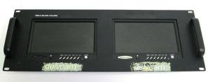 "Delvcam DELV-2LCD-7XLRM Dual 7"" Rack Mount TFT LCD Monitors ATSC w/ TV Receiver"