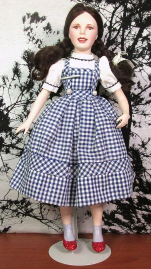 Franklin Heirloom Dorothy Wizard of Oz Porcelain Doll in Original Box 16""