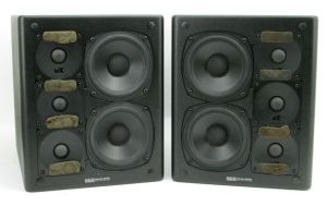 PAIR of M & K Sound Miller & Kreisel Powered Studio Monitors MPS-2510P SQCR