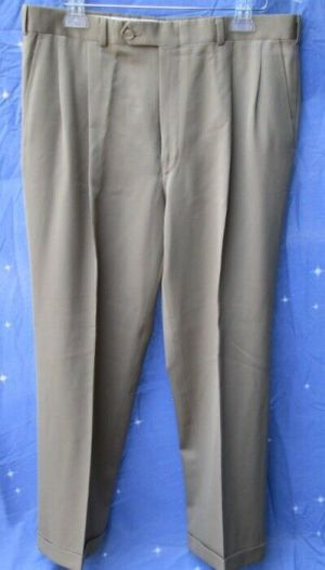 Carroll & Co Suit Pants Slacks Trousers Dress Pants Brown #87 Wool Fully Lined