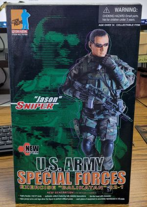 """Dragon Action Figure US Army Special Forces Sniper Jason 12"""" 70199"""