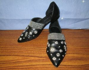 E8 By Mista Women's Flats Black with Jewelry Size 7