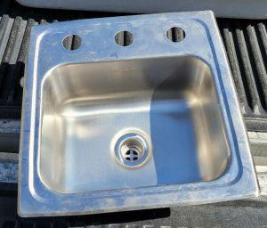 """Elkay D115153 15"""" Stainless Steel Sink Drop In 3-Hole 12"""" x 10"""" Basin"""