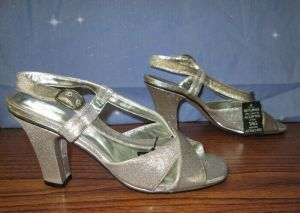 Marc Jacobs Women's Heels Metallic Silver Gold Size 10.5