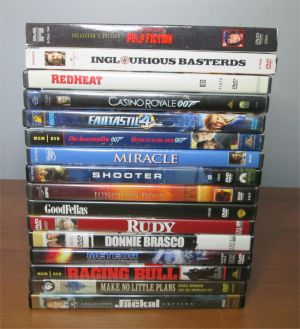 DVD Lot Drama Crime Action Goodfellas Inglourious Basterds 007 Pulp Fiction