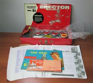 Gilbert Erector Set No 5 1/2 The Motorized Set w/ Case Manual