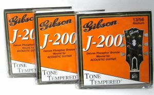 Lot 3 Gibson J-200 Deluxe Bronze Wound Acoustic Guitar Strings Med 13-56 G-J200M