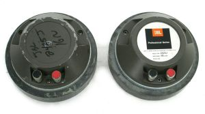 "PAIR of JBL 2425-J 16-Ohm 1"" 25mm Compression Drivers Professional Series"