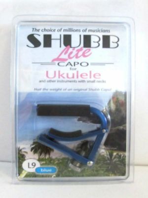 Shubb L9 Blue Lite Lightweight Capo For Ukulele & Small Neck Instruments NEW