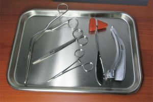 Vollrath Instrument Tray Clamp Scissors Forceps Reflex Hammer Laryngoscope Blade