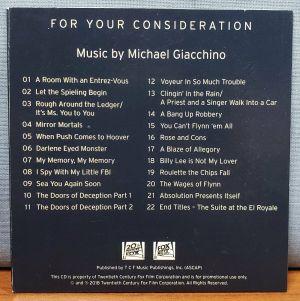 BAD TIMES AT THE EL ROYALE Movie FYC Best Original Score Music CD Soundtrack