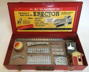 Gilbert Erector Set No 4 1/2 The Motorized Set w/ Case Manual