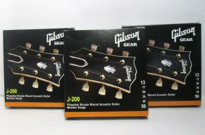 Lot 3 Gibson J-200 Phos Bronze Wound Acoustic Guitar Strings Med 13-56 SAG-J200