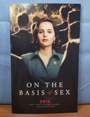 ON THE BASIS OF SEX 2018 PROMO Music Sheet FYC Best Original Score Song SIGNED *