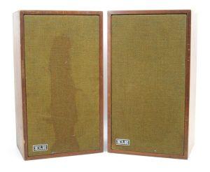 Pair of Vintage KLH Model Twenty Six Speaker Monitors Loudspeaker System 8OHMS