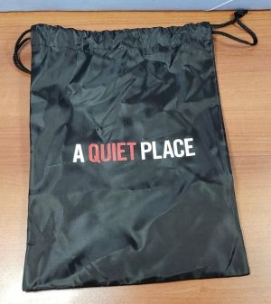 A QUIET PLACE 2018 Movie Official Promo Gift Drawstring Bag & White Slippers