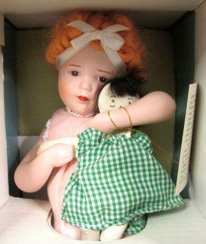 "Bessie Pease Gutman Love is Blind Porcelain Little Girl Doll 12"" in Original Box"