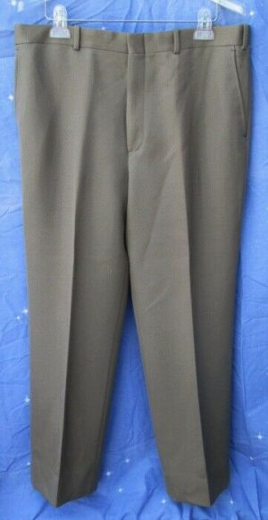 Carroll & Co Suit Pants Slacks Trousers Dress Pants Brown #69  Wool Fully Lined