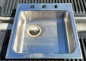"""Just SL-2019 20"""" Stainless Steel Sink Drop In 3-Hole 16"""" x 14"""" Basin"""
