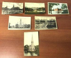 Lot 14 Vtg Kobenhavn Denmark Toledo Ohio Black White Color Photo Postcards