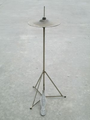"Vintage Fred F Kiemle Stand w/ 13"" inch Hi-Hat and Foot Pedal"