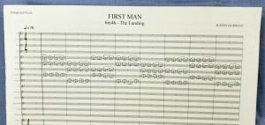 FIRST MAN For Your Consideration JUSTIN HURWITZ SIGNED Music Sheet FYC PROMO #2