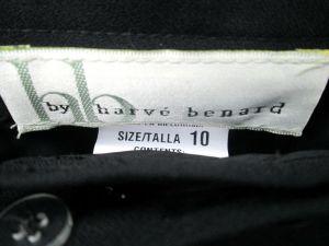 Harve Benard Womens Black Pants w White Pipe Stitching Size 10 NWT
