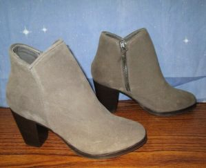 NEW Thursday Boots Company Up Town Sued Gray Brown Booties Size 10.5