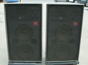 """PAIR of JBL 4871 Concert Series 3-Way Touring Speakers Dual 15"""" Woofers"""