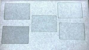 "TIFFEN 2×3"" LOT OF 5 BLACK PRO MIST GLASS RECTANGLE CAMERA FILTER"